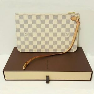 LOUIS VUITTON DAMIER AZUR NEVERFULL POUCH