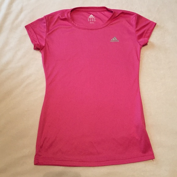 84% off Adidas Tops - Activewear Adidas Hot Pink Shirt from ...