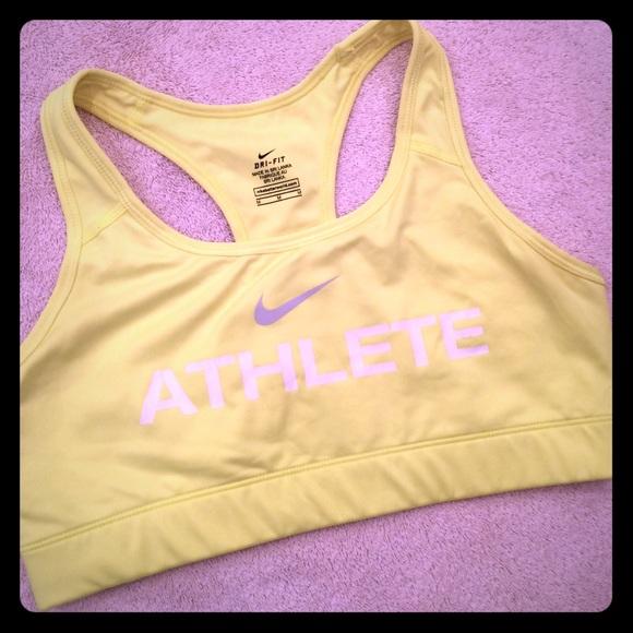 a5a2e6826aa2a Neon yellow Nike m drifit sports bra SoulCycle. M 564b60756a58300c76001275