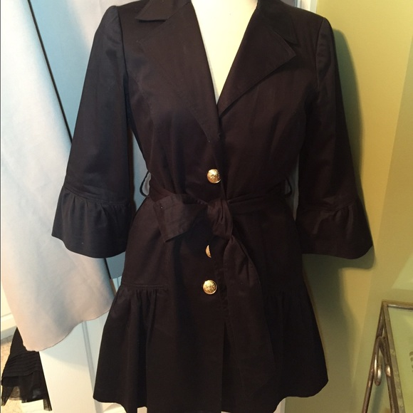 Sara Jane Jackets & Coats - Sara Jane spring jacket navy with ruffle