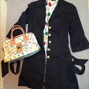 Sara Jane spring jacket navy with ruffle SALE