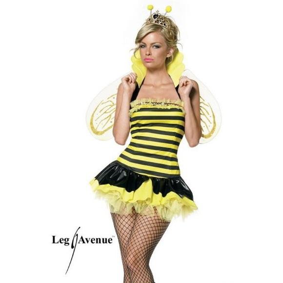 leg ave queen bee bumblebee halloween costume