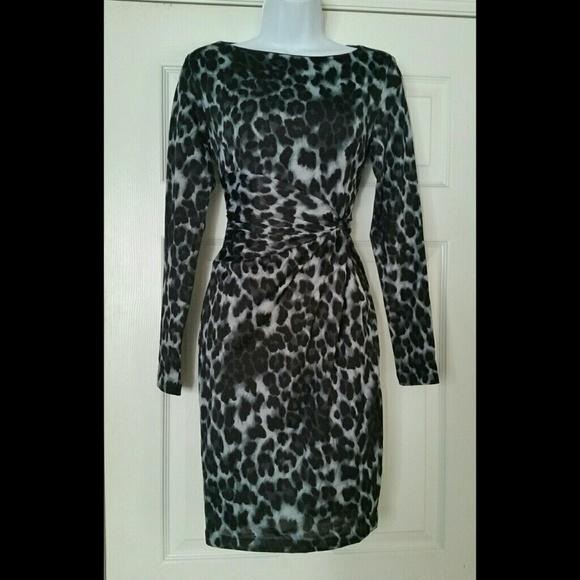 NWT PHILOSOPHY faux wrap leopard print dress b4f4d949c