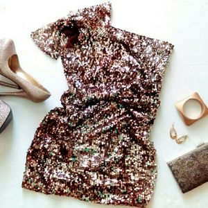 HP Bronze & Golden Sequin Dress