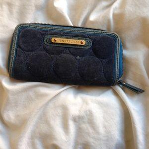 Velvet juicy couture zip wallet