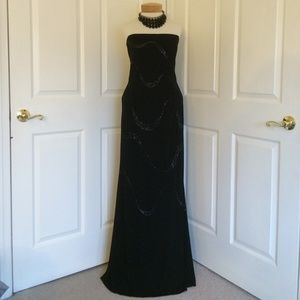 Dresses & Skirts - Strapless Beaded Gown!!!!