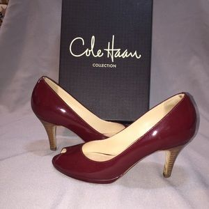 Cole Haan Shoes - Cole Haan Carma air OT AIR PUMP WINE PATENT