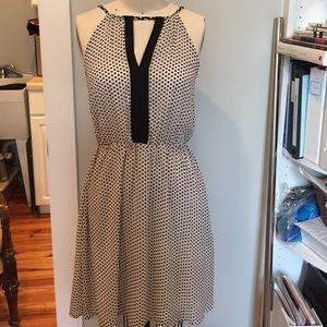 H&M black and white printed dress