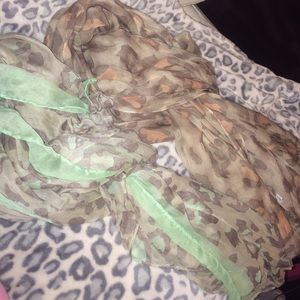 Both cheetah scarves together
