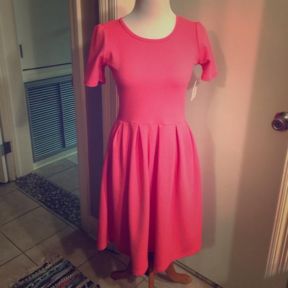 bafbf438fbe Lularoe pink Amelia dress size small