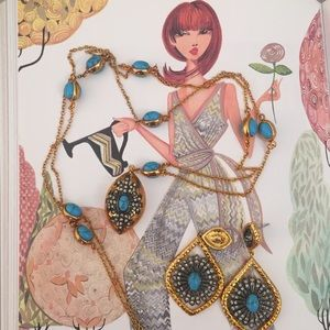 Bijou Tresor Couture Necklace & Earrings