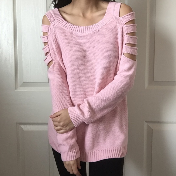 Cute Cutout Pink Sweater
