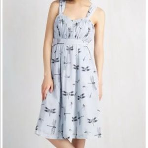 "Modcloth ""come and dragonfly away with me"" dress M"
