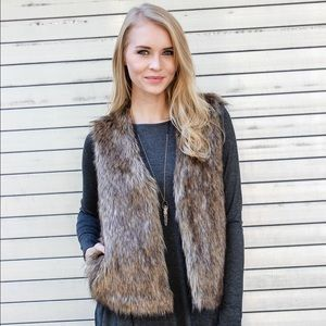 Castleton Fur Vest in brown
