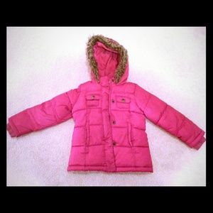 Pink Old Navy Girls Winter Puffer Jacket