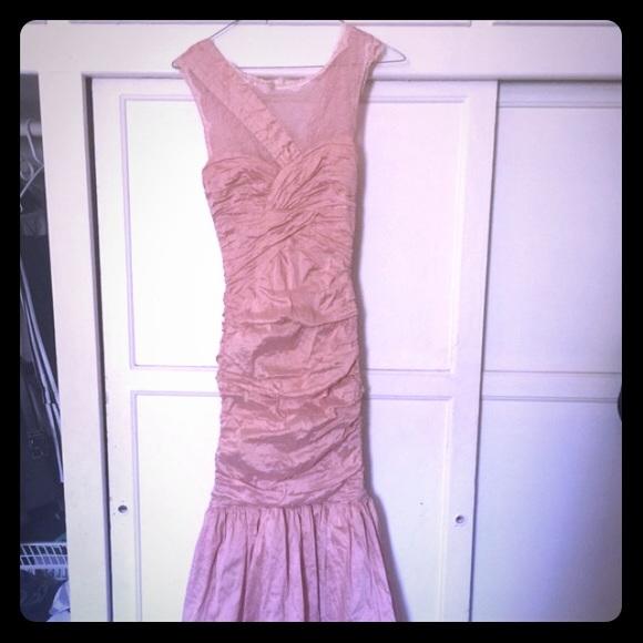 BCBGMaxAzria Dresses | Stunning Bcbg Blush Colored Shimmer Evening ...