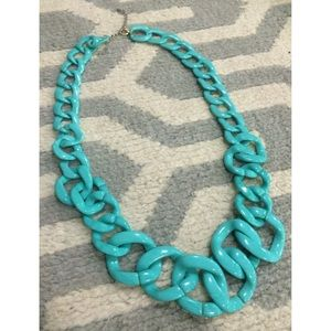 Jewelry - Turquoise Acrylic Chain Length Long Necklace