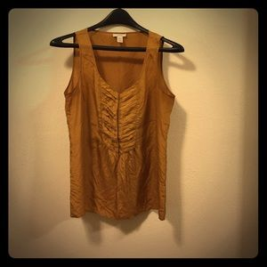 Gold sleeveless top