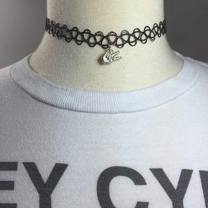 Peace Tattoo Choker Necklace