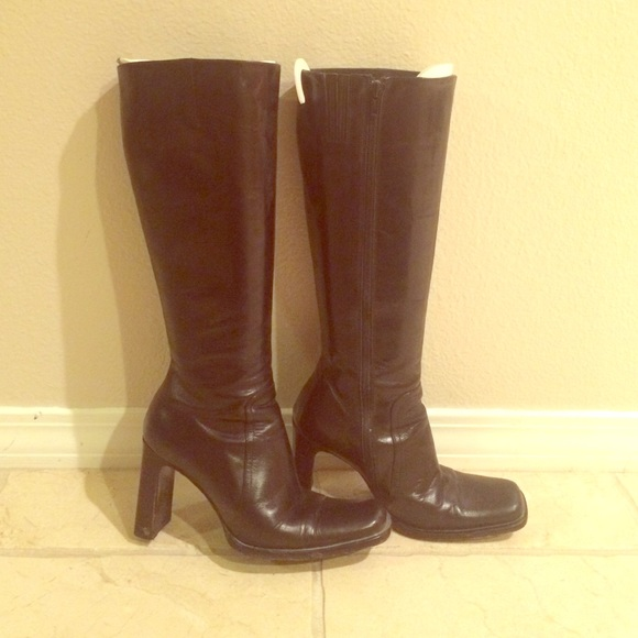 91 shoes charles david made in italy knee high