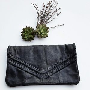 Vintage Clutch with lacing detail