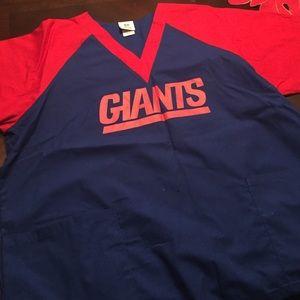 Tops - NY giants scrub top