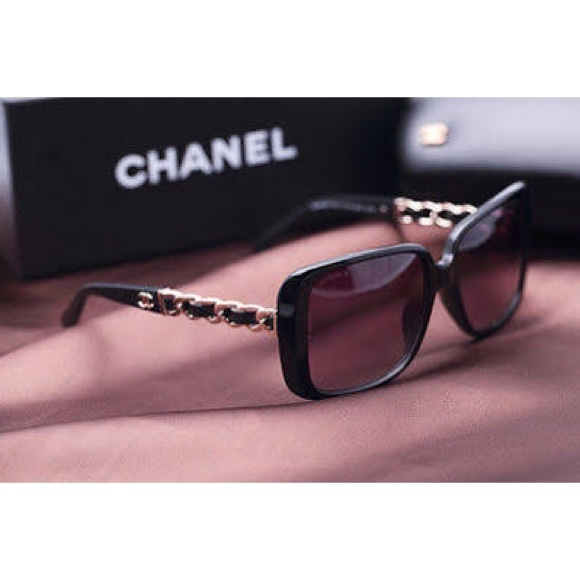 4edfac9794 CHANEL Accessories - Chanel Tortoise Chain Link Square Sunglasses