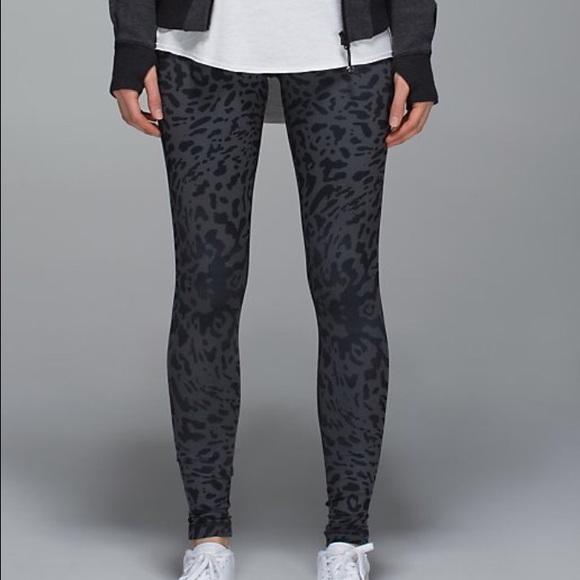 da60d0c06778b lululemon athletica Pants | Lululemon Black And Grey Spotted Legging ...