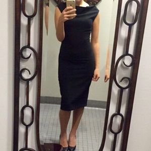 Zara black fitted dress