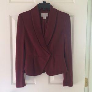 H&M Jackets & Blazers - Burgundy H&M blazer size Small