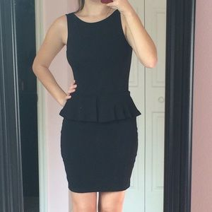 Zara Dresses & Skirts - Peplum ZARA little black dress size XS