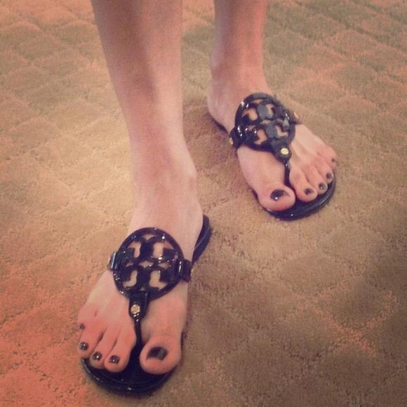 2c78a158d7e48 Tory Burch Miller Sandals--Patent Black--. M 564ca17cd3a2a7d63c02f193