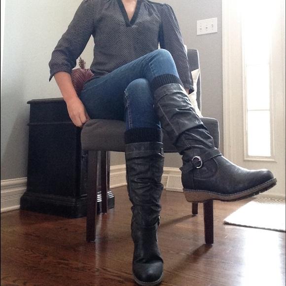 278dfab213b ‼️24 HR SALE‼️Cute Black Bucco Cory Boots size 7