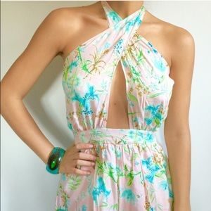 Urban Outfitters Pants - Floral halter romper!