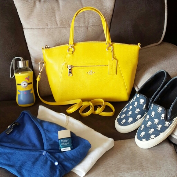 45% off Coach Handbags - SOLD NWT COACH PRAIRIE SATCHEL YELLOW ...