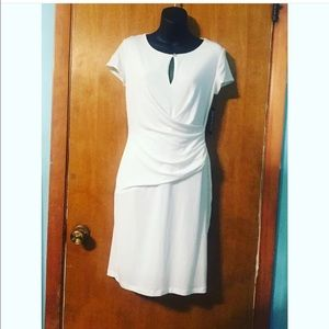A white NY&C dress with wrap around front