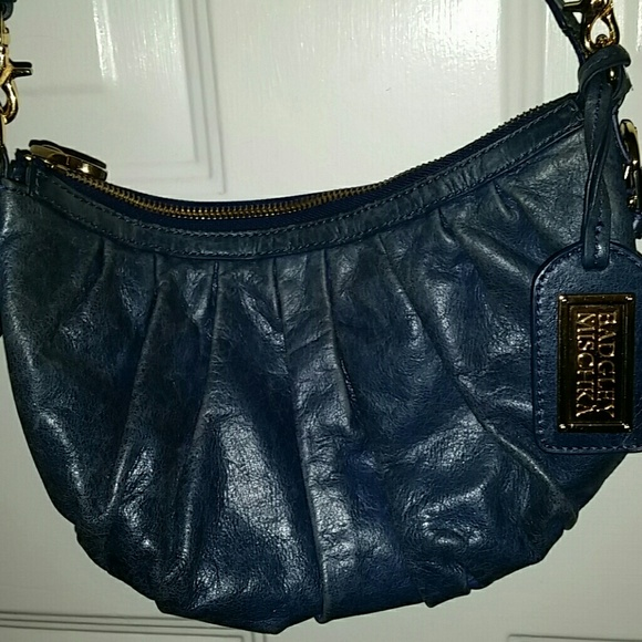 0b3ac5fd421 Badgley Mischka Bags   Blue Leather Shoulder Bag Euc   Poshmark