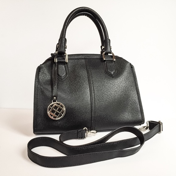 London Fog Bags - Black faux leather bag London Fog
