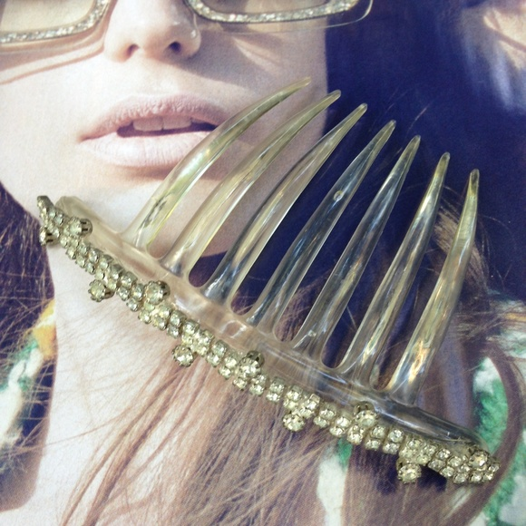 Vintage Accessories Rhinestone French Twist Hair Comb Poshmark