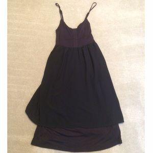 Kersh Black & Blue Tiered Dress NWOT