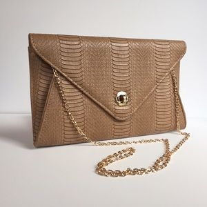 Tan faux leather shoulder bag Urban Expressions