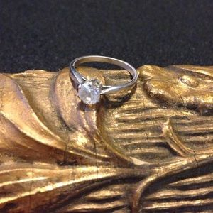Jewelry - Sterling CZ engagement ring