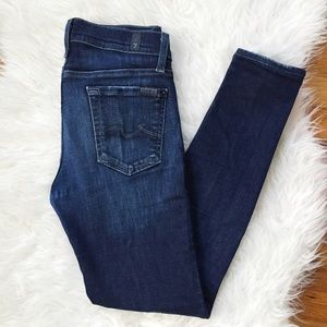 "7 for all Mankind Denim - 7FAM ""gwenevere"" blue skinny jeans"