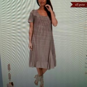 Couleur Lin Taupe Cristina Linen Dress