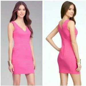 bebe Dresses & Skirts - Bebe Pink V Neck Dress size OP
