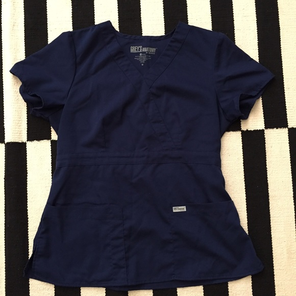 Grey\'s Anatomy Other | Greys Anatomy Navy Blue Scrub Top Sz M | Poshmark