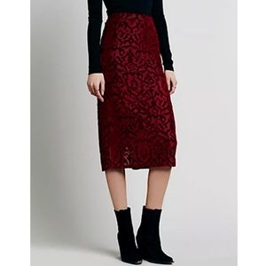 Free People Dresses & Skirts - FREE PEOPLE Maxi Skirt Intricate Long Draped Swing