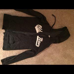 Dark gray old navy zip up hoodie