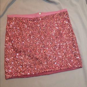 pink forever 21 sequin skirt on Poshmark