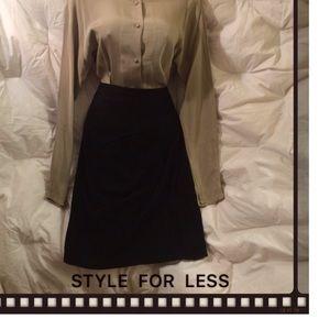 Maxima Dresses & Skirts - MAXIMA Knee Length Suede Skirt